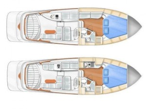 Blue Sailor's Cabin Cruiser 34 Layout