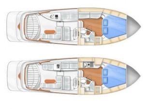 Blue Sailor's Cabin Cruiser 34 Layout