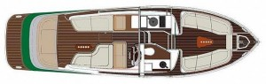 Blue Sailors Bow Rider 34 Layout